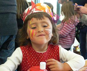 Messy church- facepainting